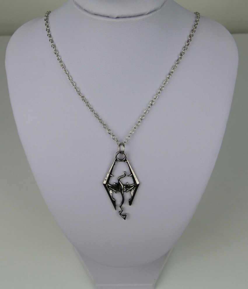 Мужская мода кулон горячее новое ожерелье символ дракон длинная цепь очаровательный из нержавеющей стали