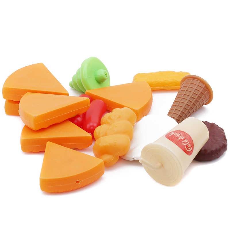 ปลอมพิซซ่า Fast ทำอาหาร Pretend บทบาทเล่นของเล่นเกมเด็กจำลองอาหารของเล่นสร้างสรรค์วัสดุของเล่นพราว