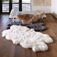 ФОТО luxury white 100% wool natural real authentic sheepskin handmade carpet rug modern contemporary tapestry mat design nordic style