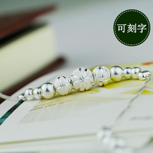 Silver anklet bells transport bead female students on the Korean style simple retro Korean personality all-match mori