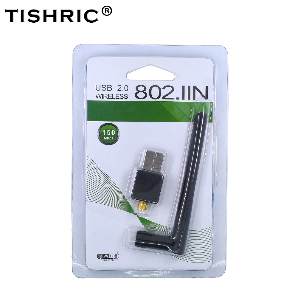 TISHRIC Mini USB WIFI Adapter 150Mbps 802.11n/g/b Antenna wi-fi Dongle Network LAN Card High Speed For WindowsXP/7 Vista Linux