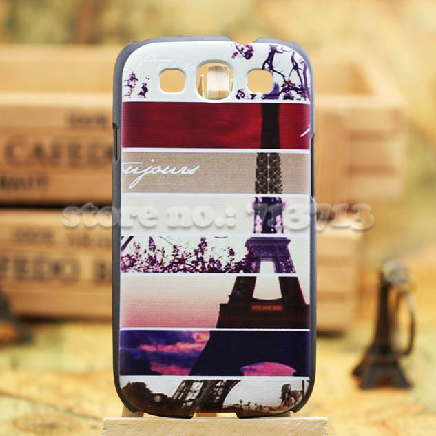 Eiffel Tower Luxury Hard Case for Samsung Galaxy S3 Back Cover for 9300 hard Cases Free Shipping Wholesales