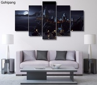 5 Panels Canvas Prints Harry Potter School Movie Posters Wall Art Painting Modular Picture For Living Room Home Decor