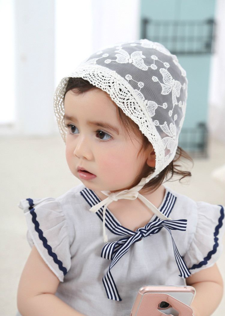 3c99fc391c4 New Baby Girls Infant Lace See through Hat Newborn Kids Children Cap Beanie  Hair Accessories Hats Baby reborn Photography Props-in Hats   Caps from  Mother ...