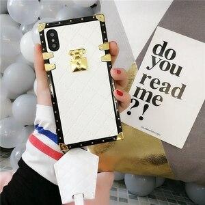 Image 5 - Aoweziic 高級ブランド革ケース iphone 11 プロマックス xr xs 最大電話ケースバックカバー 6s 7 8 プラス PU ソフトシェルとストラップ