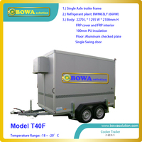 8850dollars Buy 7cbm Movable Frozen Trailer For Outdoor Events Or Meat Or Seafood Mobile Vans