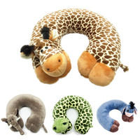Fashion U Shape Neck Pillow Decorative Pillow Home Cushion Cartoon Animal Neck Pillow For Travelling Office