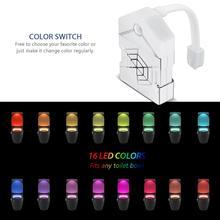LED Toilet Light PIR Motion Sensor Night Bulb Bathroom Induction Bowl for Kid WC 16 Colors Backlight Led Lamp