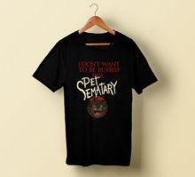 Ramones - Pet Sematary T-Shirt Stephen King Horror Book Art 2018 Short Sleeve Cotton T Shirts Man Clothing Top Tee Plus Size king s pet sematary