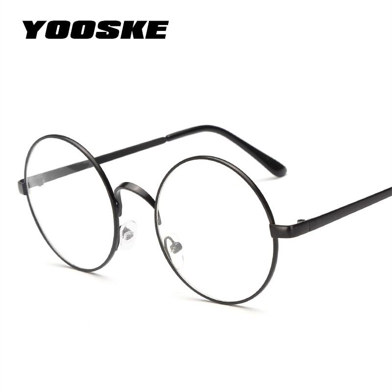 905511b8abf YOOSKE Women Round Glasses Frames Glasses With Clear Lens Men Optical  Spectacle Frame Transparent Glasses For