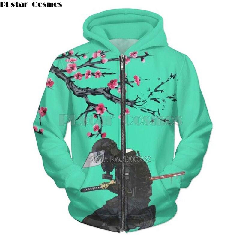 Hoodies & Sweatshirts United New Fashion Funny Hoodie Samurai Japan Warrior New Thicken Keep Warm Men Sweatshirt Hip Hop Jacket Hoody Harajuku Streetwear