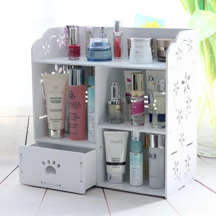white skin care cosmetic makeup nail polish shower lotion shampoo bathroom drawer cabinet case storage box