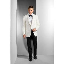 tuxedos prom wedding suit white mens wear custom made suit dress slim fit 2017 fashion formal wear