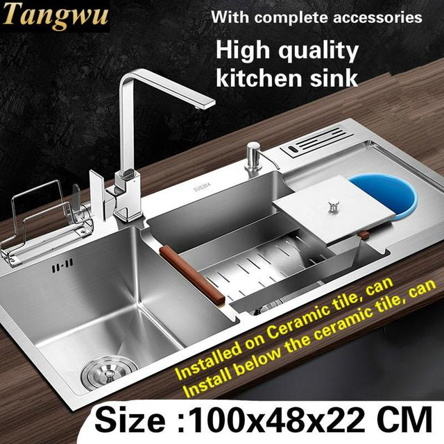Tangwu High quality food grade 304 stainless steel kitchen sink ...