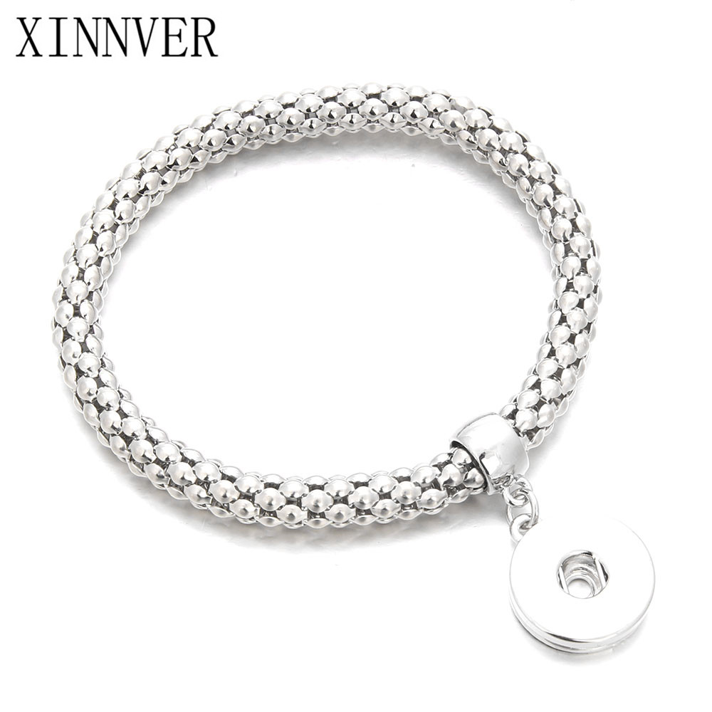 XINNVER Gold Silver Bracelet For Women 18mm snap Jewelry