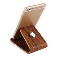 Soporte Universal de madera de bambú para teléfono móvil, soporte ligero y delgado para iPhone, portátil de bambú/haya/nogal