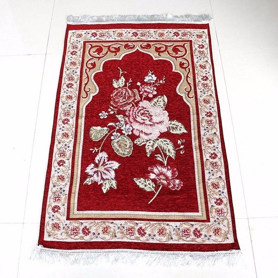 Prayer Rug Types: Wholesale 75*110cm Floral Islamic Muslim Prayer Mat Salat