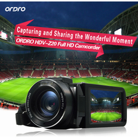 ORDRO HDV Z20 1080P High Definiton Video Recording Camera 16X Digital Zoom 24.0 Mega Pixels LCD Touch Screen With Remote Control