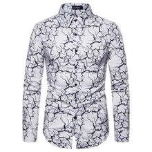 New Autumn British Style Classic Irregular Grid Shirt Mens Bar Casual Slim Long Sleeve
