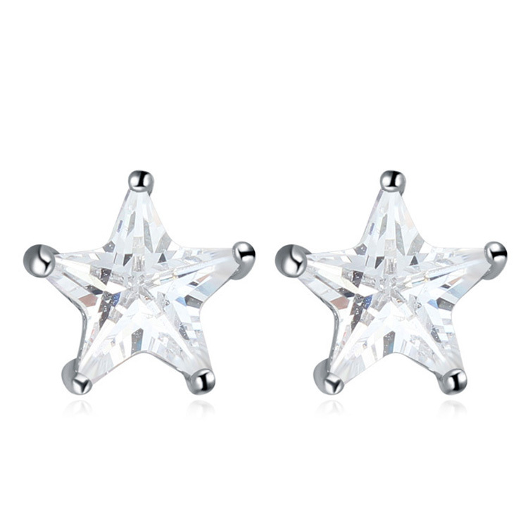 Star Shaped Diamond Earrings Jewellery