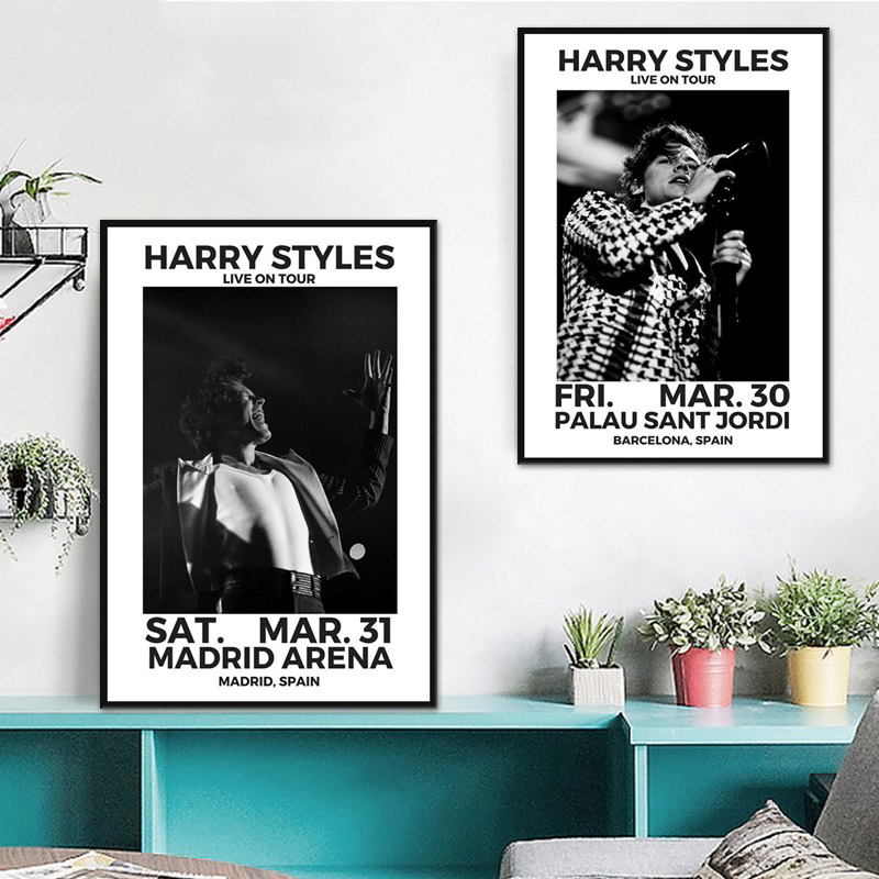 Canvas Painting Poster Harry-Styles Wall-Art-Picture Prints Home-Decor For Live-Cover