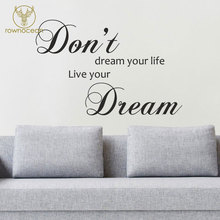 Dont Dream Your Life, Live Wall Sticker Quote Inspirational Decal Vinyl Words Adhesive Home Decor Living Room 3Q10