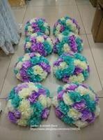 custom wedding decorative flower balls,DIY pack includes hydrangea rose heads and half ball white red yellow orange green blue