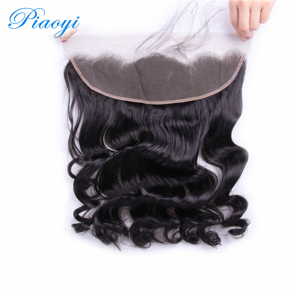 Piaoyi Hair 13x4 Brazilian loose Frontal 8-22 inch Free Part human hair frontal With Baby Hair 130% Density Remy Hair Loose Wave