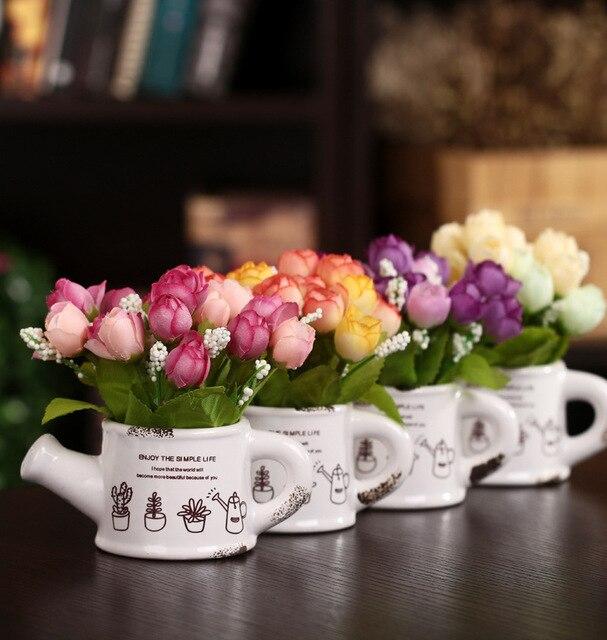 New Vivid Kunstliche Seidenblumen Home Hotel Zimmer Braut Hochzeit