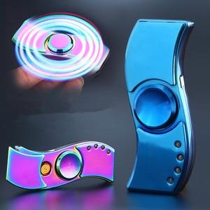Image 1 - 2017 Nuovo USB Mano Spinner Accendino Ricaricabile Accenditore Elettronico della Sigaretta Turbo Lighter Cigar Plasma Impulso Dito gyro