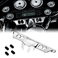 Chrome Switch Dash Panel Accent Cover For Harley Street Glide 06 13 Triks 09 13 Electra Glide 96 13 Models