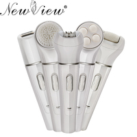 NewView Rechargeable Epilator Lady Shaver Messager Face Cleansing Instrument Electric Foot File Hair Removal Machine