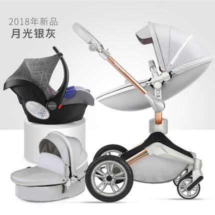 f04afb4f5 Cochecito de bebé 3 en 1 con asiento de coche para Recién Nacido Alta Vista  Pram plegable bebé carro SISTEMA de VIAJE carrinho de bebe 3 em 1 en Cuatro  ...