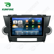 Quad Core 1024*600 Android 5.1 Car DVD GPS Navigation Player Car Stereo for Toyota Highlander 09-14 Deckless Bluetooth Wifi/3G