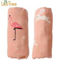 2pcs Set Bamboo Muslin Cotton Baby Swaddles 120 120cm Newborn Baby Blankets Double Layer Gauze Bath