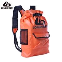 LONGHIKER Sealded Waterproof Dry Beach Backpack Bag For Outdoor PVC Hiking Impermeable Water Proof Backpacks Bag 20L/16L/13L