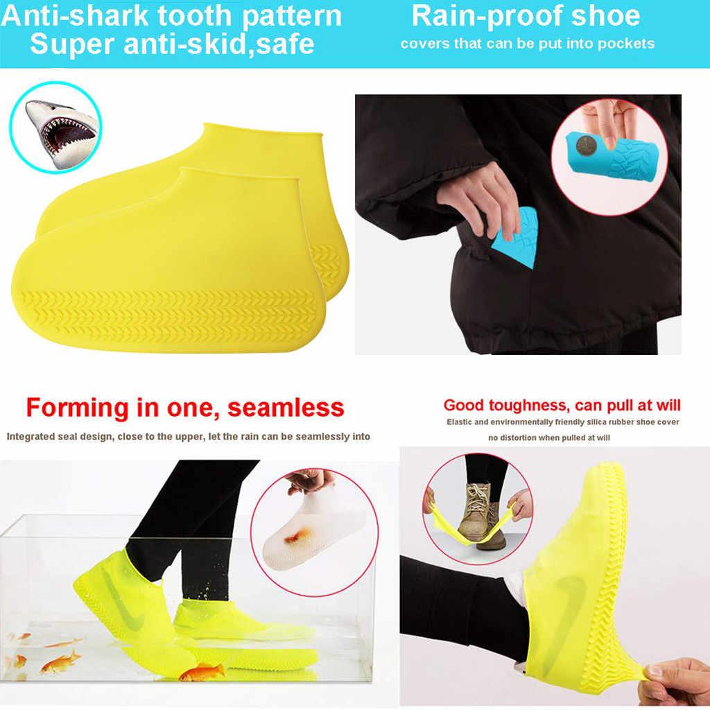 Высококачественная противоскользящая акваобувь унисекс Водонепроницаемая защитная обувь чехол для обуви дождевые Чехлы для обуви Высокий Верх дождливый день открытый размер