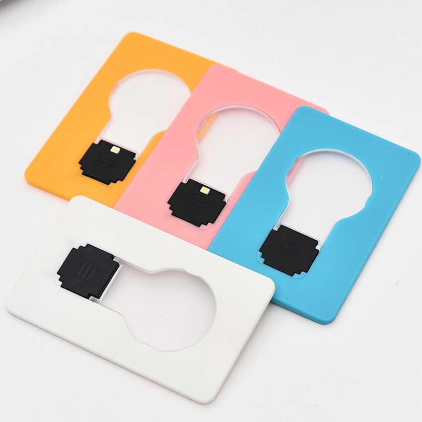 2018 Christmas gift 1pc Pocket Card Lamp Mini Portable USB Mini LED Night Light Bulb Versatile