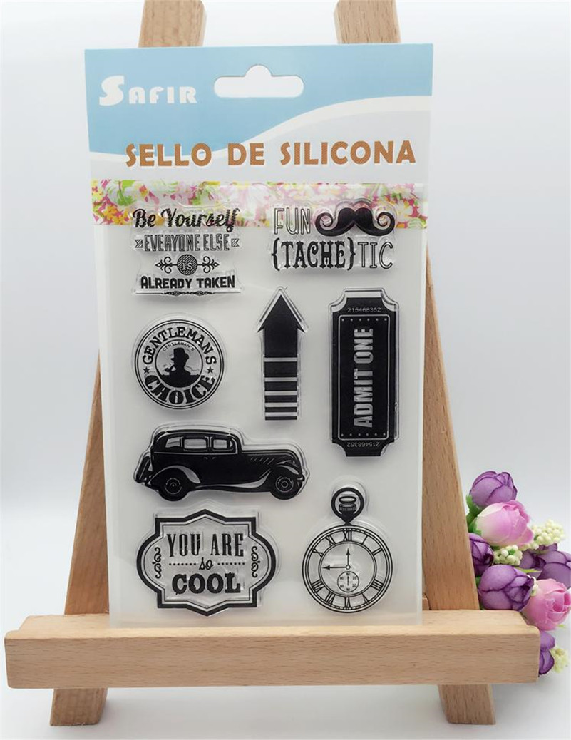 "New arrival stencil diy scrapbooking clear stamp""you are cool car "" for wedding paper card christmas gift LL-116"