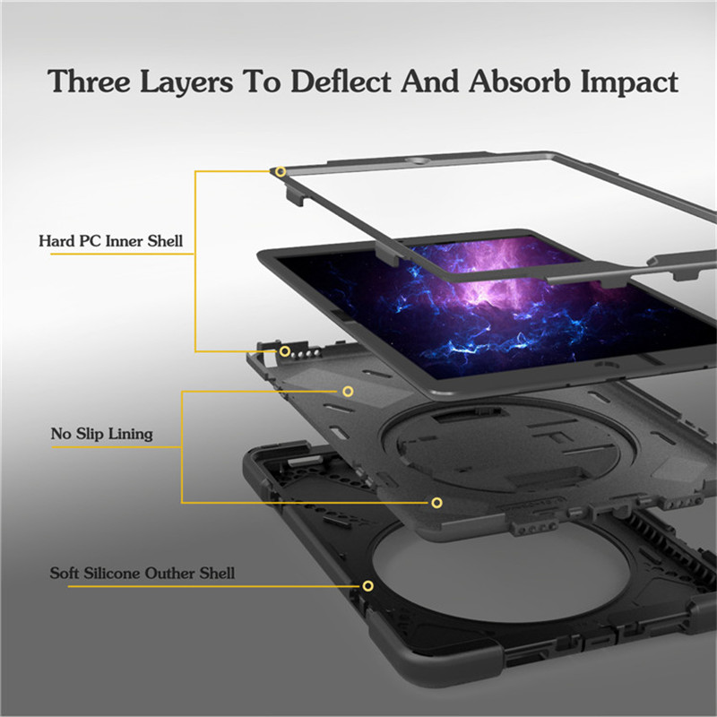 Urmwing For ipad 10.5 Kids Safe Shockproof Heavy Duty Silicone Hard Cover for apple ipad Pro 10.5 inch Hand hold A1701 A1709