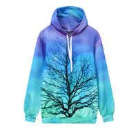 New Fashion 3D Print Tree Branch Graphic Hoodies Long Sleeved Sweatshirts Loose Long Sleeve Pullovers Sudaderas Tracksuit Tops