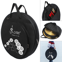 SLADE Three Pockets Cymbal Drum Sticks Storage Bag Protable Gig Shoulder Bag for 8-20 Inch Cymbal and Drum Sticks zildjian 24 premium cymbal bag