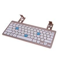 Portable 10 Meter Distance Mini Keyboard Metal Ultra Thin Wireless Bluetooth 3 0 Portable Keyboard With