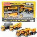 4 unids nuevo mini aleación a troquel del coche tractor vehículo de construcción de plástico de juguete dinky toys desplazamiento de vehículos cars coches de juguete regalo