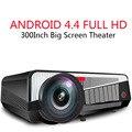 5500 Lúmenes LED-86 + Android 4.4 Full HD Bluetooth LCD 3D WIFI Proyector de Proyección de 200 pulgadas Disfrutar de Cine En Casa Inalámbrico teléfono