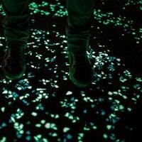 Luminous Pebbles Stones Glow In The Dark Fish Tank Flower Pot Decor Crafts Green