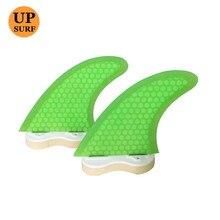 quilhas fcs g3 Fins green G3 Fin Honeycomb Fiber fins Surfboard 2pcs per set