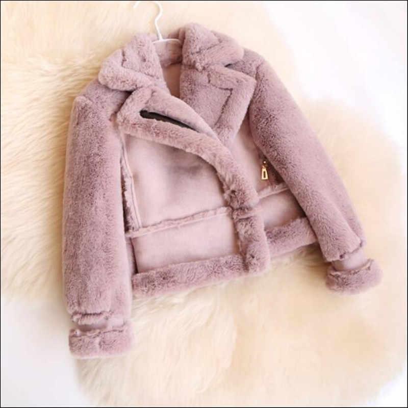 Меховая детская куртка с искусственным мехом для девочек и мальчиков пальто