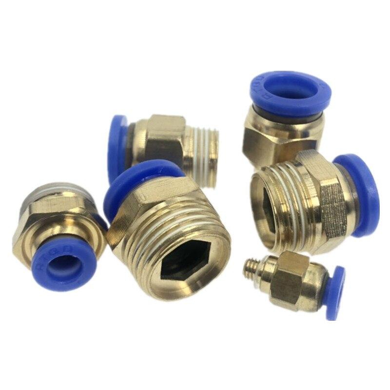 1/8 ''1/4'' 3/8 ''1/2'' Männlichen-4 6 8 10 12mm Gerade Push In Pneumatische Passend Zu Verbinden Air Kompressor Teile Perfekte Verarbeitung