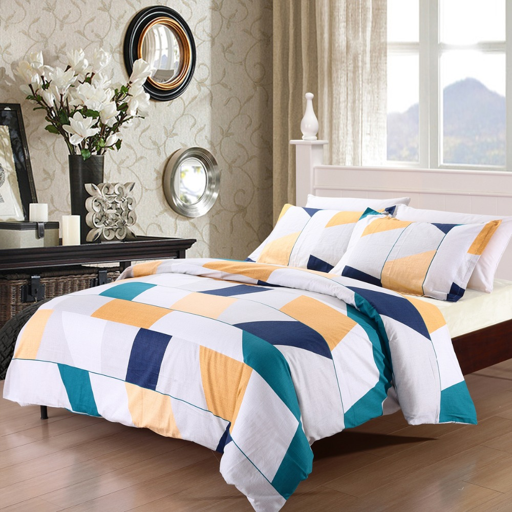 popular modern geometric beddingbuy cheap modern geometric  - neat designs soft cotton duvet cover set pcs modern geometric bedding setfullqueen king